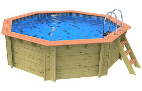 Octaganal Wooden Swimming Pool